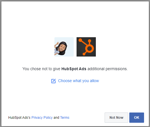 choose permissions to allow