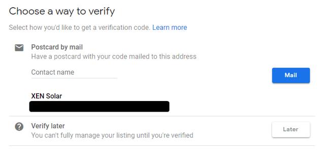 verify GMB