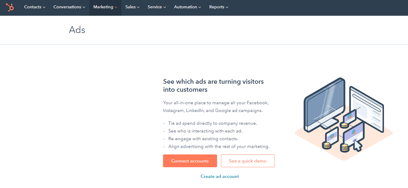 Connect Ads in HubSpot